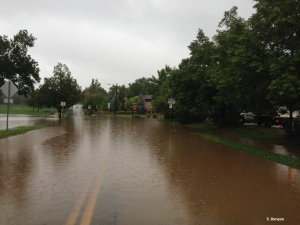 Flooding at 9th and Balsam in Boulder